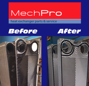 Heat Exchanger Plate Cleaning Before and After by MechPro Inc.